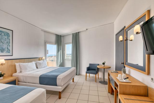 Double room with sea view creta princess aquapark & spa hotel greece
